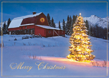 Mountain Gold Christmas Cards