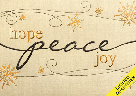 Peace, Hope and Joy Christmas Cards