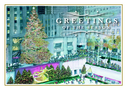 Festive in New York Christmas Cards